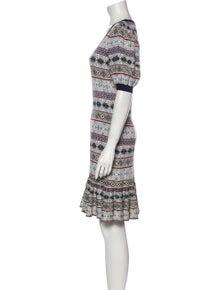 Alexander McQueen Silk Knee-Length Dress