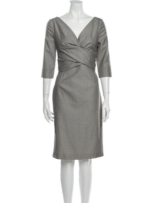 Alexander McQueen Plaid Print Knee-Length Dress Bl