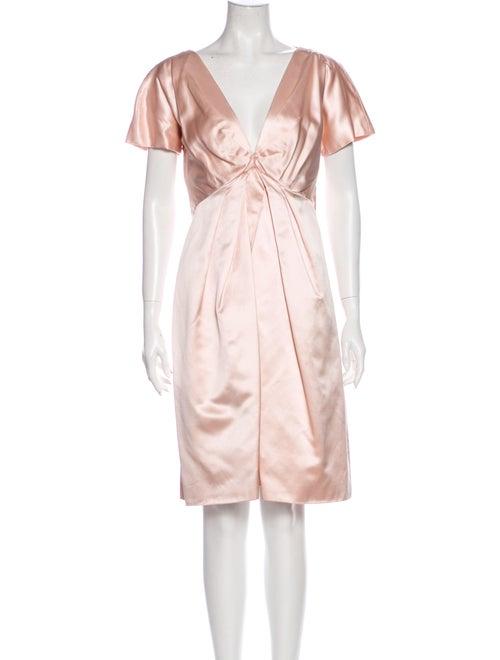 Alexander McQueen 2008 Knee-Length Dress Pink