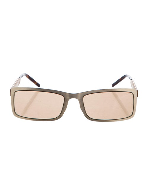 Alexander McQueen Tinted Square Sunglasses gold