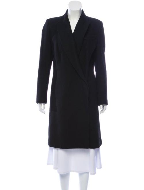 Alexander McQueen Wool Structured Coat Black
