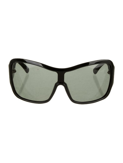 Alexander McQueen Square Tinted Sunglasses Black