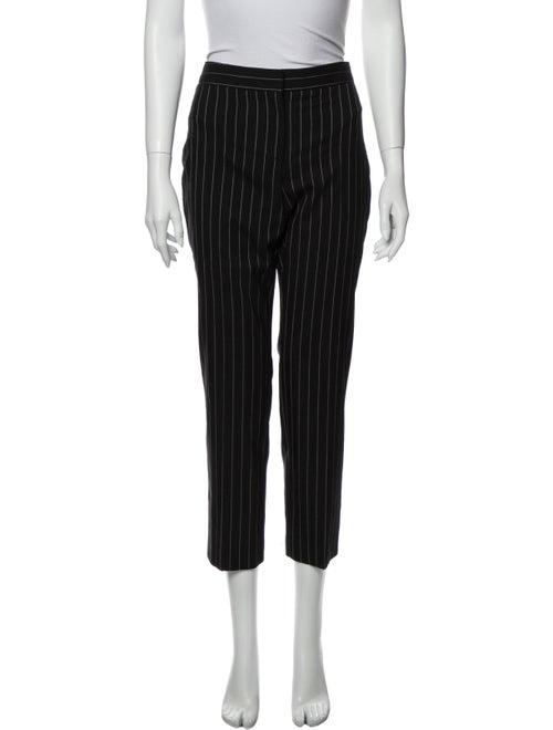 Alexander McQueen Striped Straight Leg Pants Black