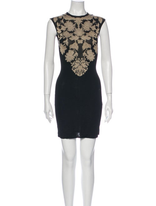 Alexander McQueen Printed Mini Dress Black