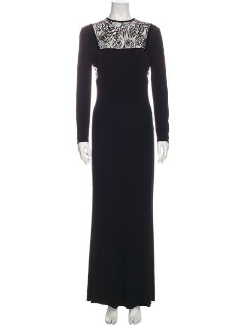 Alexander McQueen 2016 Long Dress Black
