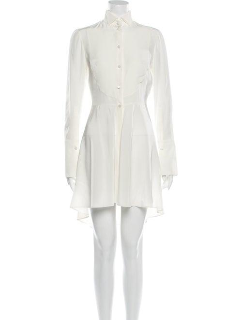 Alexander McQueen Silk Knee-Length Dress White