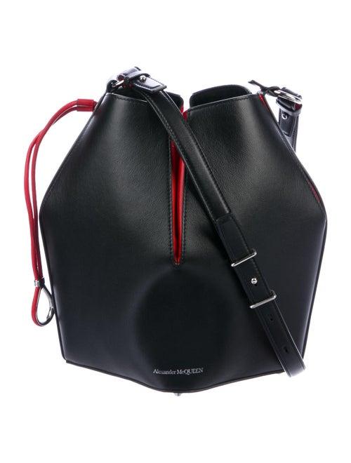 Alexander McQueen Leather Bucket Bag Black