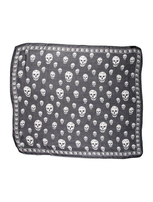 Alexander McQueen Skull Silk Scarf Black