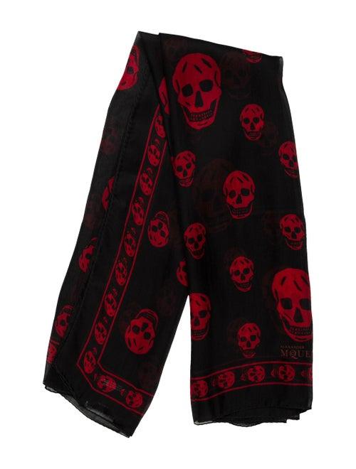 Alexander McQueen Silk Skull Scarf w/ Tags Black