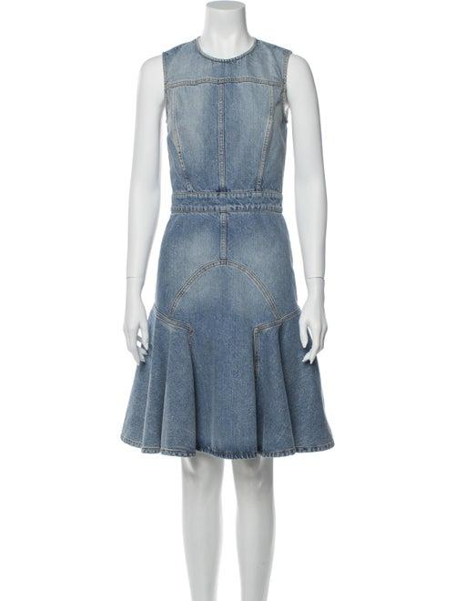 Alexander McQueen 2017 Knee-Length Dress Blue