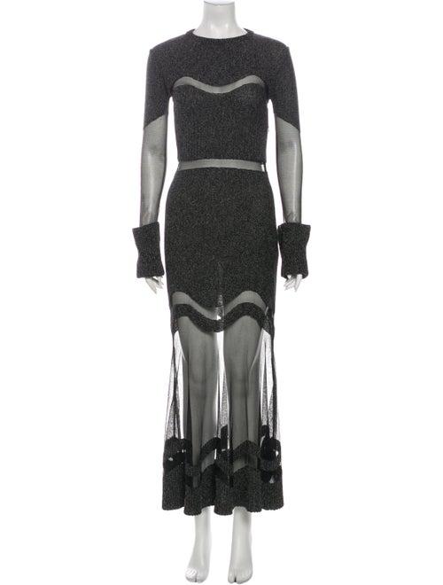 Alexander McQueen Wool Mini Dress Wool