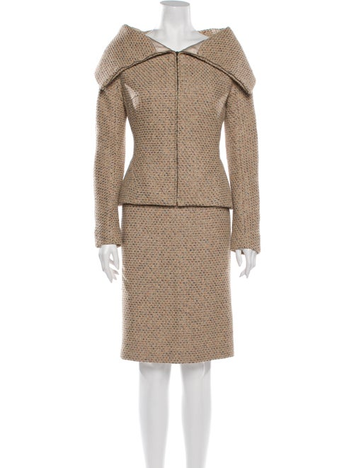 Alexander McQueen Vintage 2004 Skirt Suit Metallic