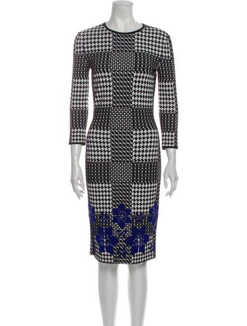 Alexander McQueen Printed Midi Length Dress