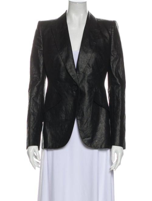 Alexander McQueen Linen Blazer Black