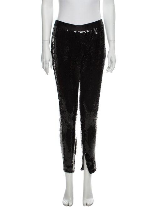Alexander McQueen Silk Skinny Leg Pants Black