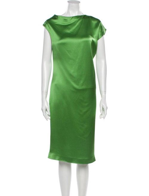 Alexander McQueen 2008 Midi Length Dress Green