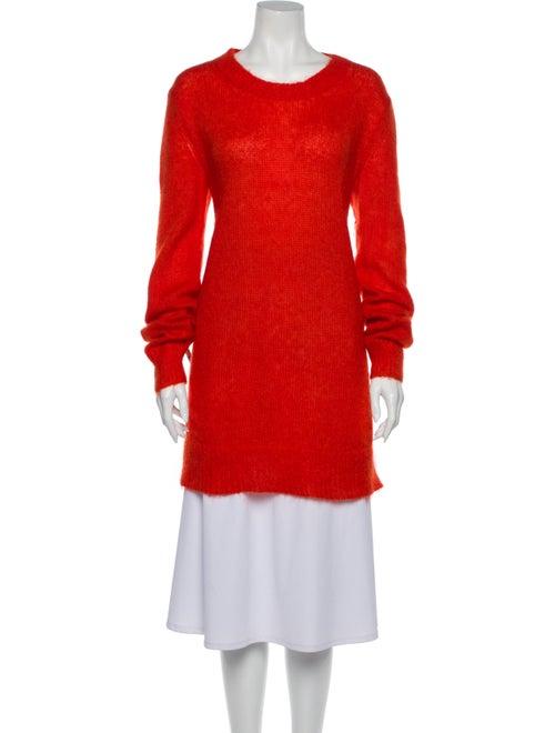 Alexander McQueen Mohair Scoop Neck Sweater Orange