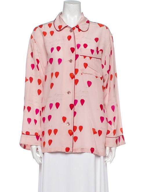 Alexander McQueen Silk Printed Pajamas Pink