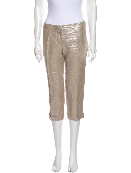 Alexander McQueen Straight Leg Pants Metallic