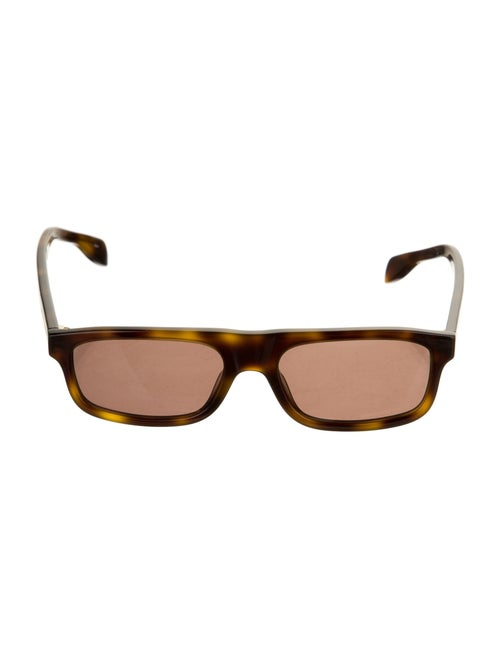 Alexander McQueen Acetate Square Sunglasses Brown