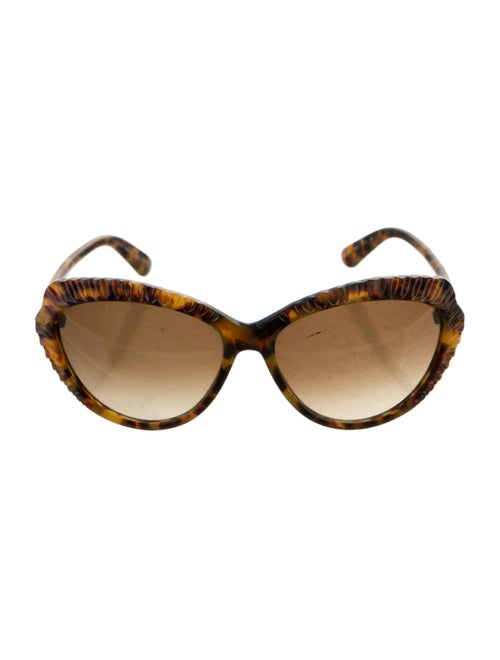 Alexander McQueen Tortoiseshell Cat-Eye Sunglasses