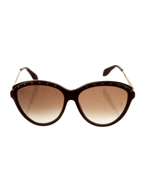 Alexander McQueen Cat-Eye Gradient Sunglasses Red