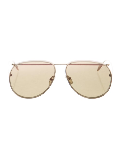 Alexander McQueen Tinted Aviator Sunglasses Gold