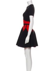 Alexander McQueen Crew Neck Mini Dress