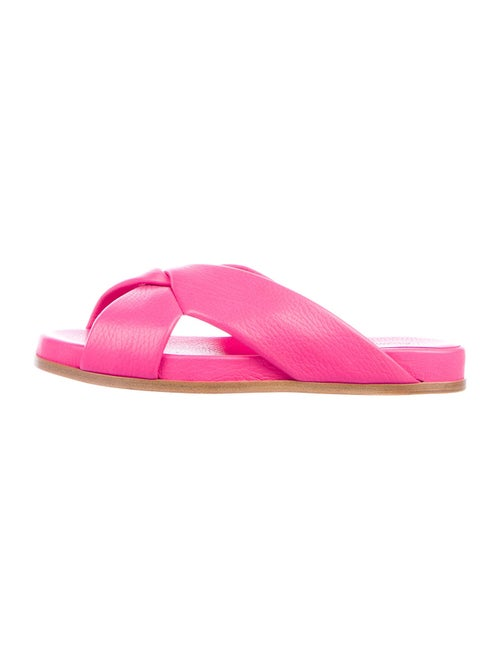 Alumnae Leather Slides Pink - image 1