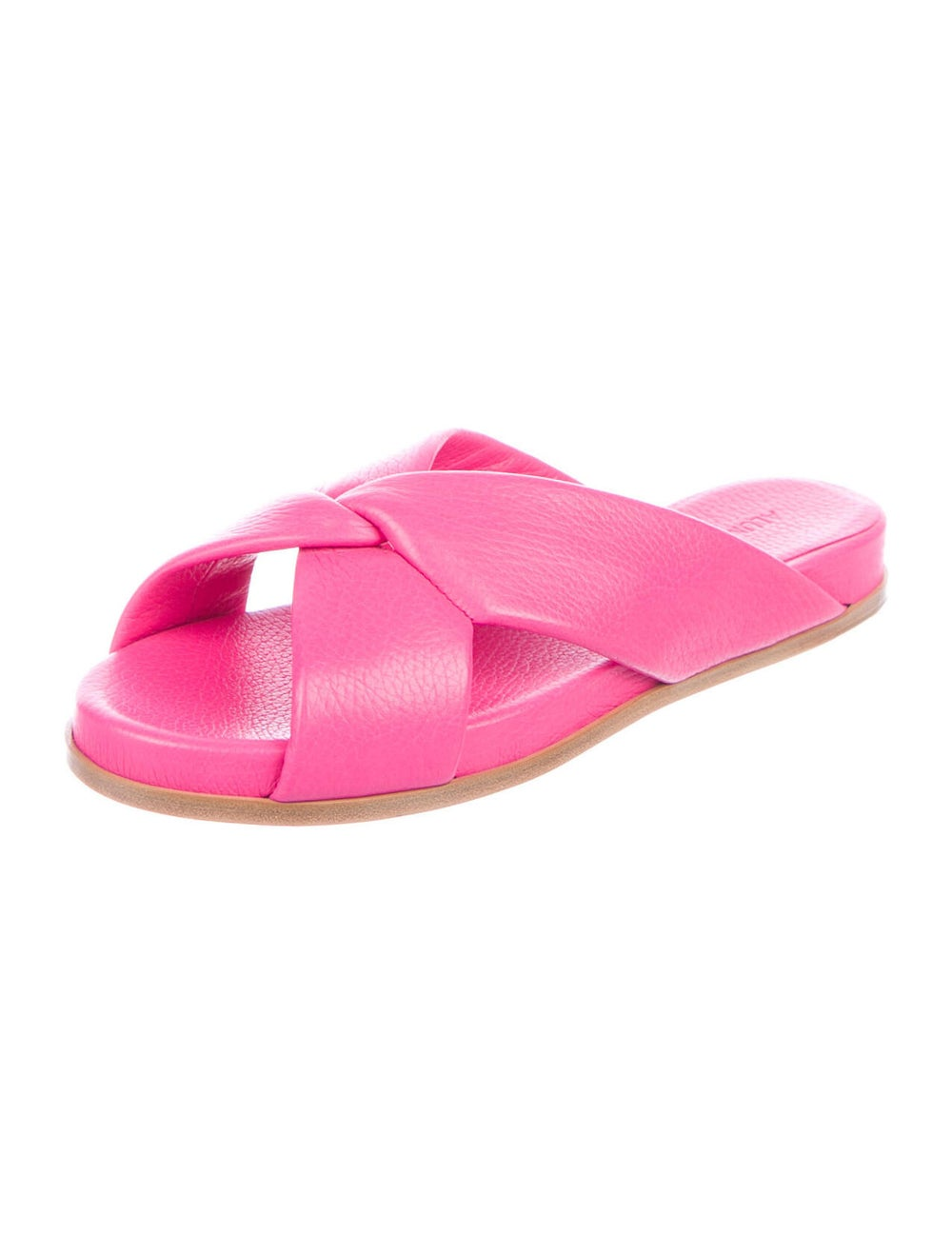 Alumnae Leather Slides Pink - image 2