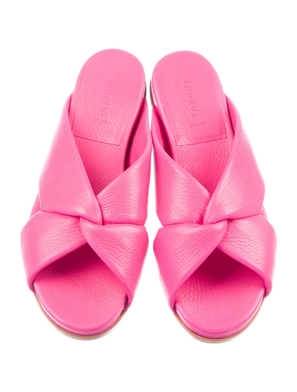 Alumnae Leather Slides Pink - image 3