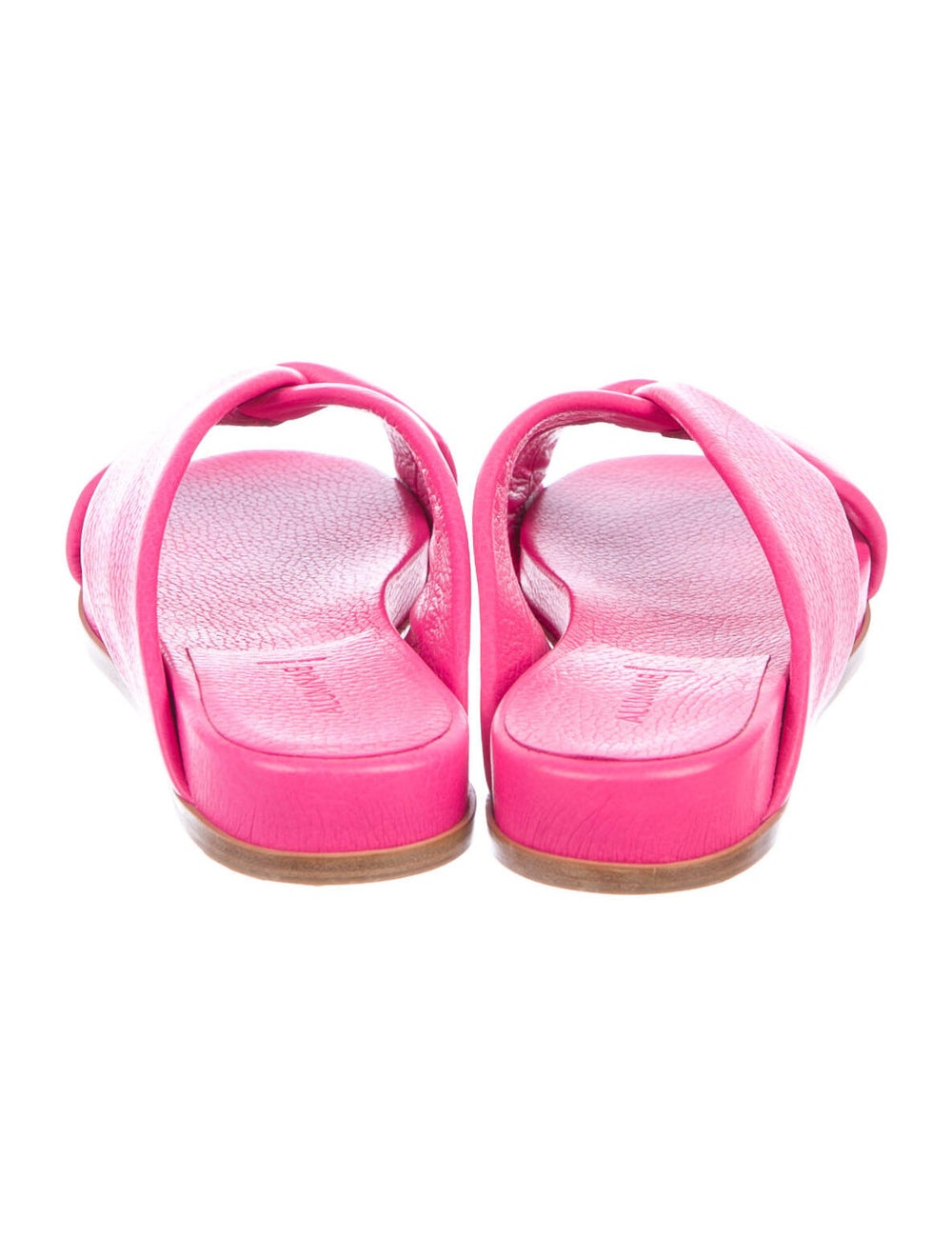 Alumnae Leather Slides Pink - image 4