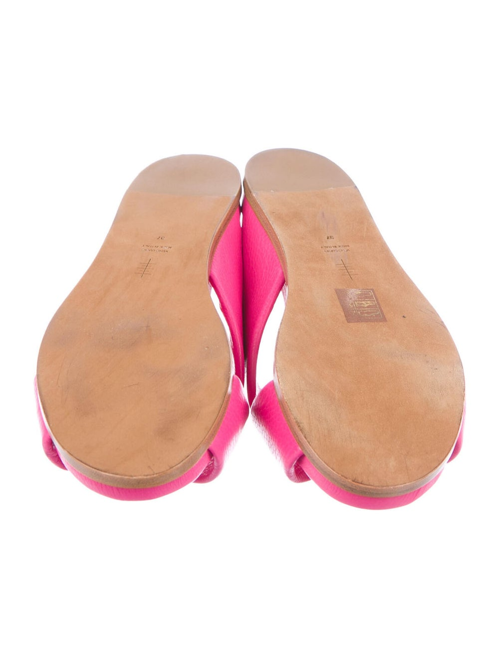 Alumnae Leather Slides Pink - image 5