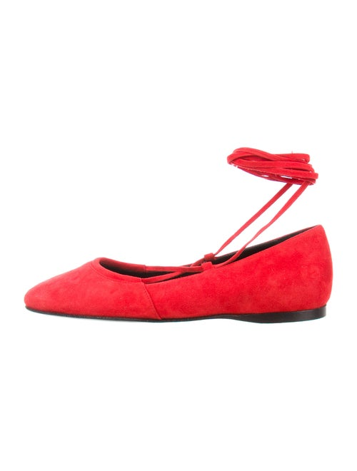 Alumnae Suede Flats Red
