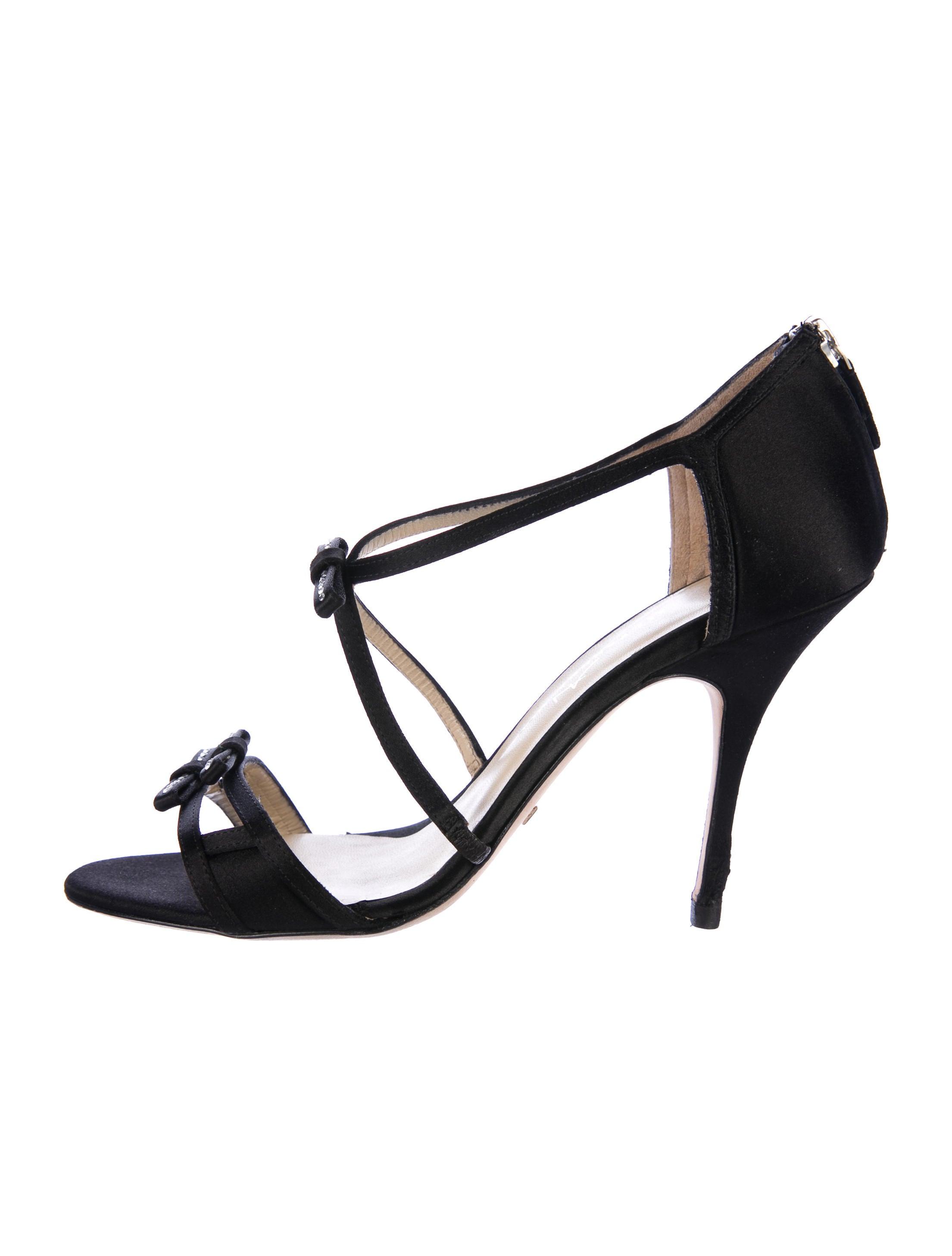 Alexandra Neel Satin Bow-Accented Sandals cheap under $60 e7uIsldiaw