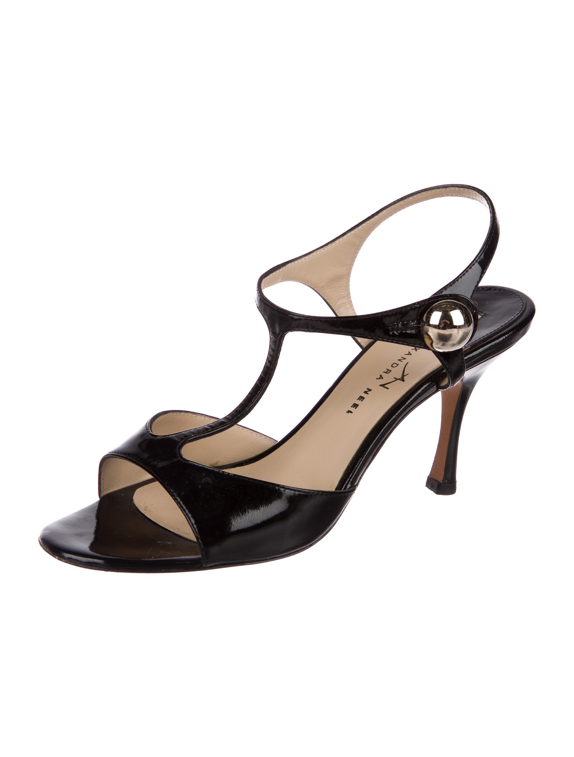 Alexandra Neel Patent T-Strap Sandals outlet best wholesale lXogYQZ