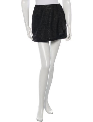 Adam Lippes Draped Mini Skirt