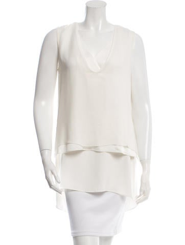 Adam Lippes Sleeveless Layered Top