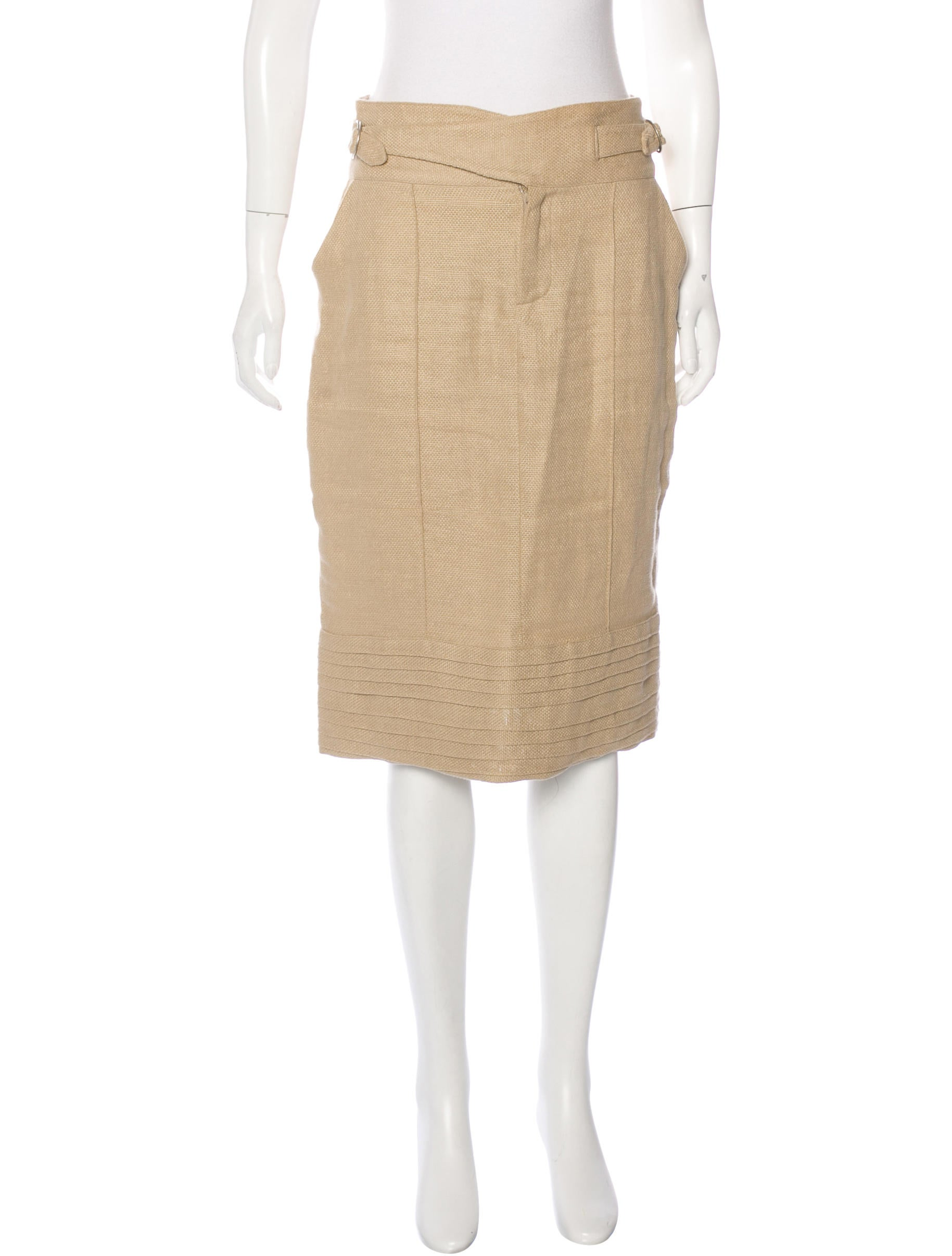 adam lippes linen pencil skirt clothing alp20872 the