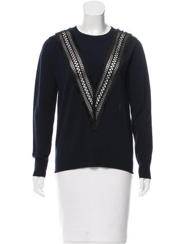 Adam Lippes Embroidered Wool Sweater None