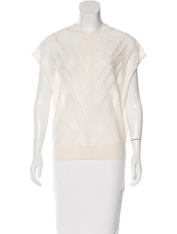 Adam Lippes Wool Embroidered Top None