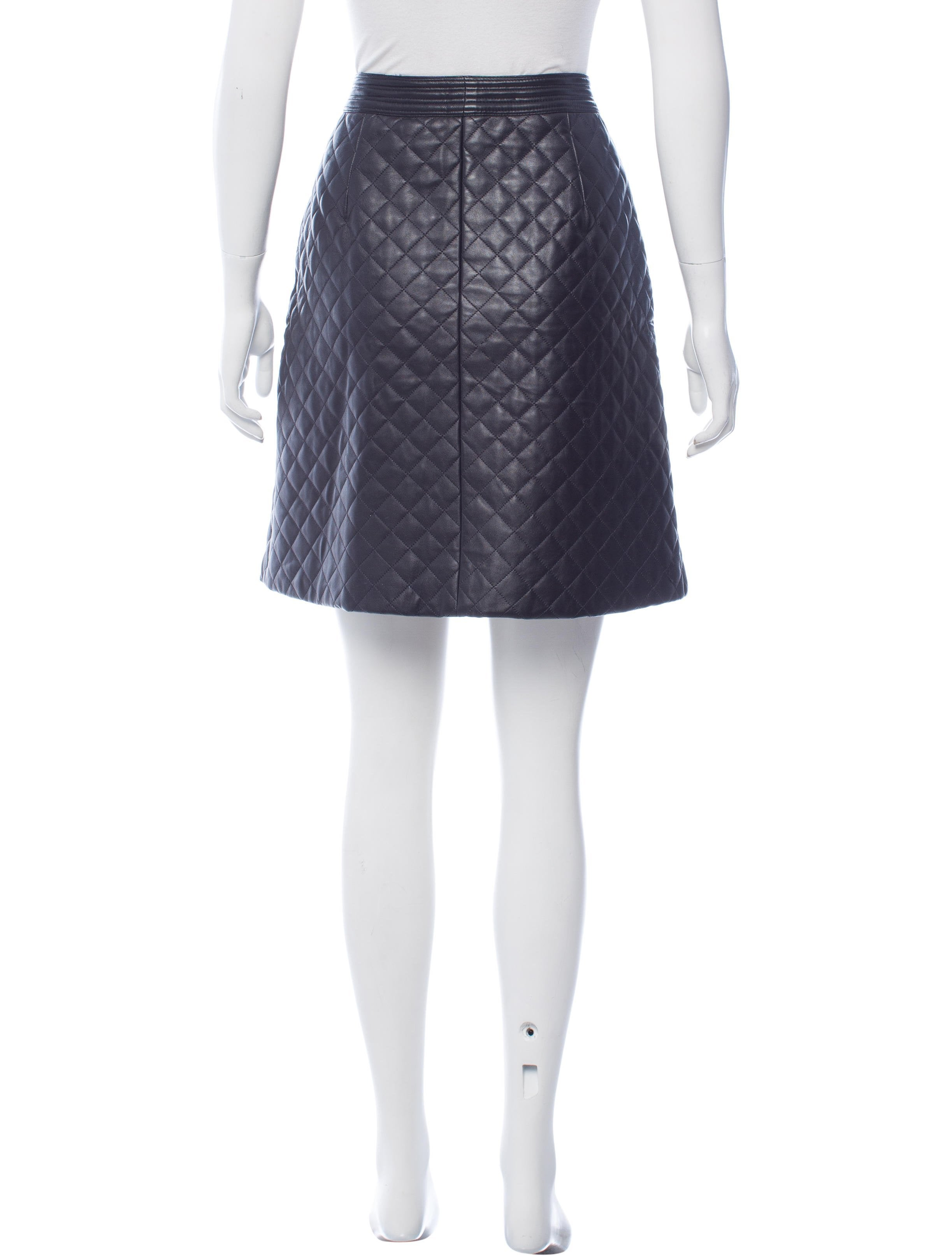 adam lippes quilted leather mini skirt clothing