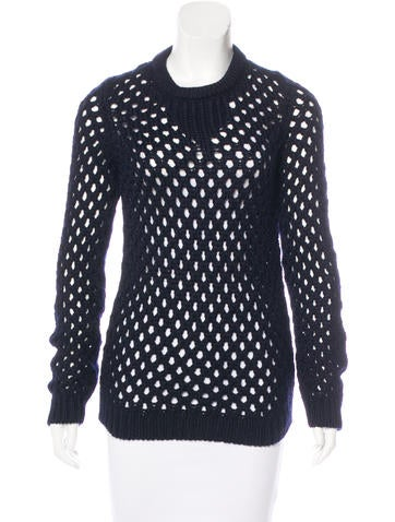 Adam Lippes Wool Open Knit Sweater None