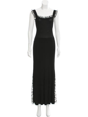 Adam Lippes Rib Knit Maxi Dress None