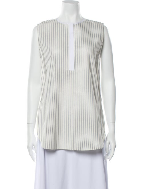 Adam Lippes Striped Crew Neck Blouse w/ Tags