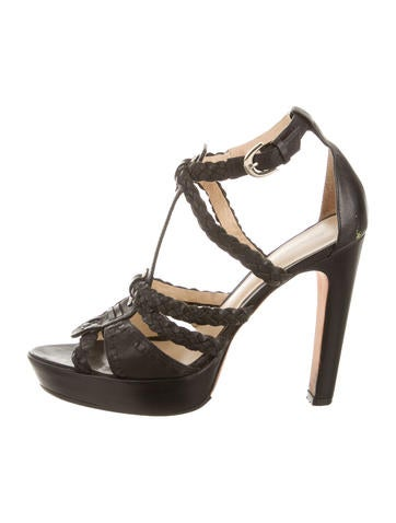 Alexandre Birman Woven Leather Heels None