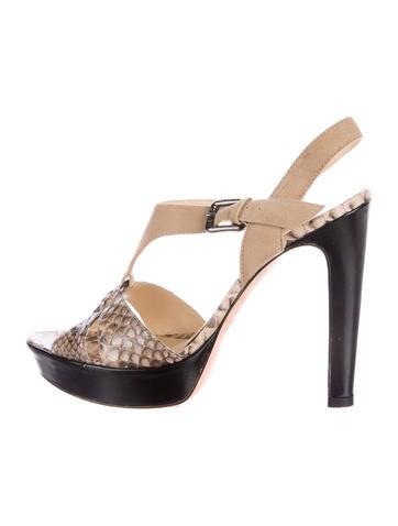 Alexandre Birman Python Platform Sandals None
