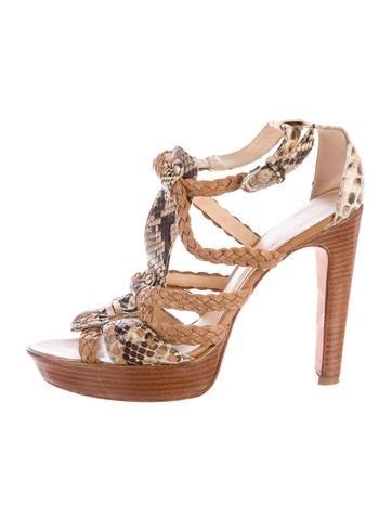 Alexandre Birman Python Multistrap Sandals None