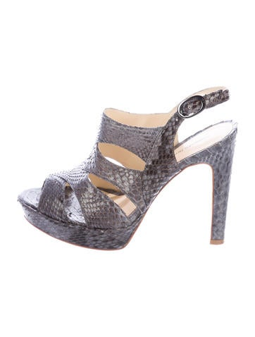 Alexandre Birman Python Platform Sandals None