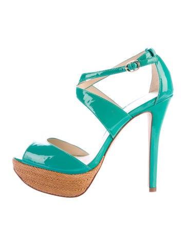 Alexandre Birman Patent Leather Platform Sandals None